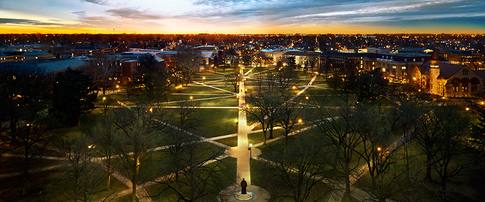 OSU Oval at Night, Looking to the Horizon