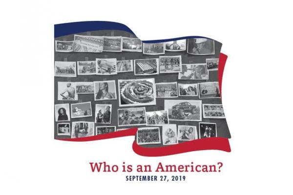 Who Is an American? logo